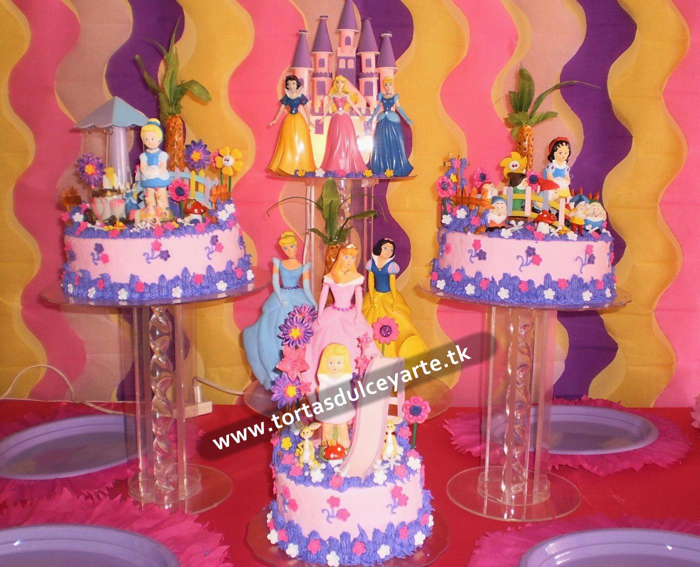 DULCE Y ARTE : Tortas para endulzarte: Torta Princesas Disney (2)