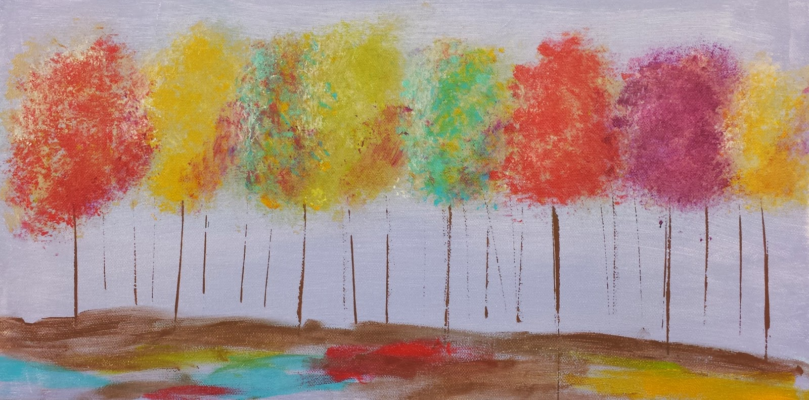 Angela anderson art blog easy tree painting kids art for Fall paintings easy