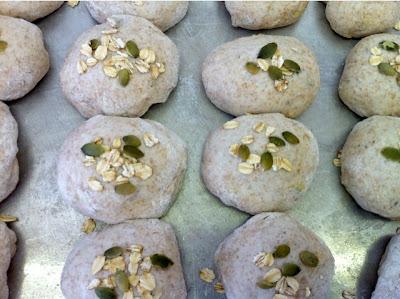 Pumpkin Seed & Oat Bread Rolls