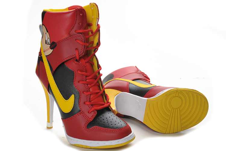 nike mickey mouse high heel shoes