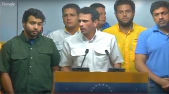 Capriles: Ir a un paro nacional es algo que se está discutiendo