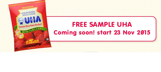 Info Sampel - Sampel Gratis Produk UHA Strawbery Milk Candy