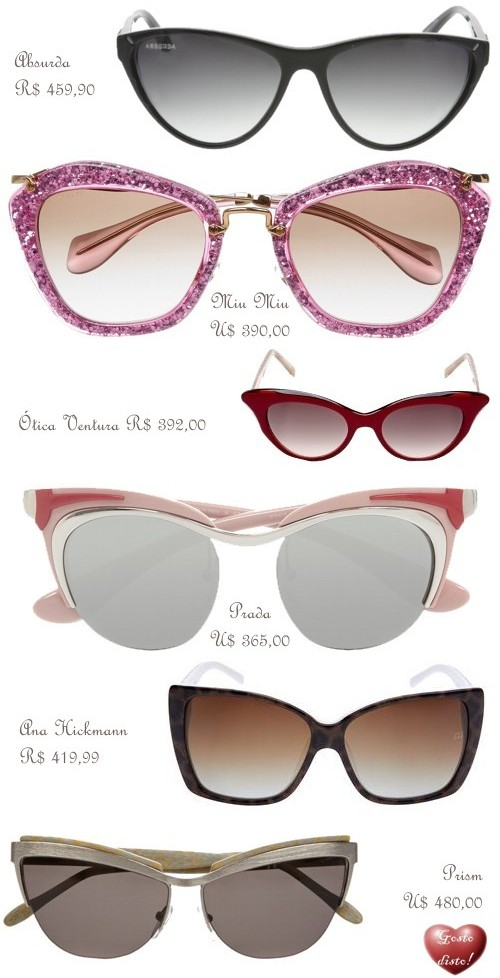 Gosto Disto!  Óculos de Gatinho - Cat-Eye Sunglass b6bbbaafa7