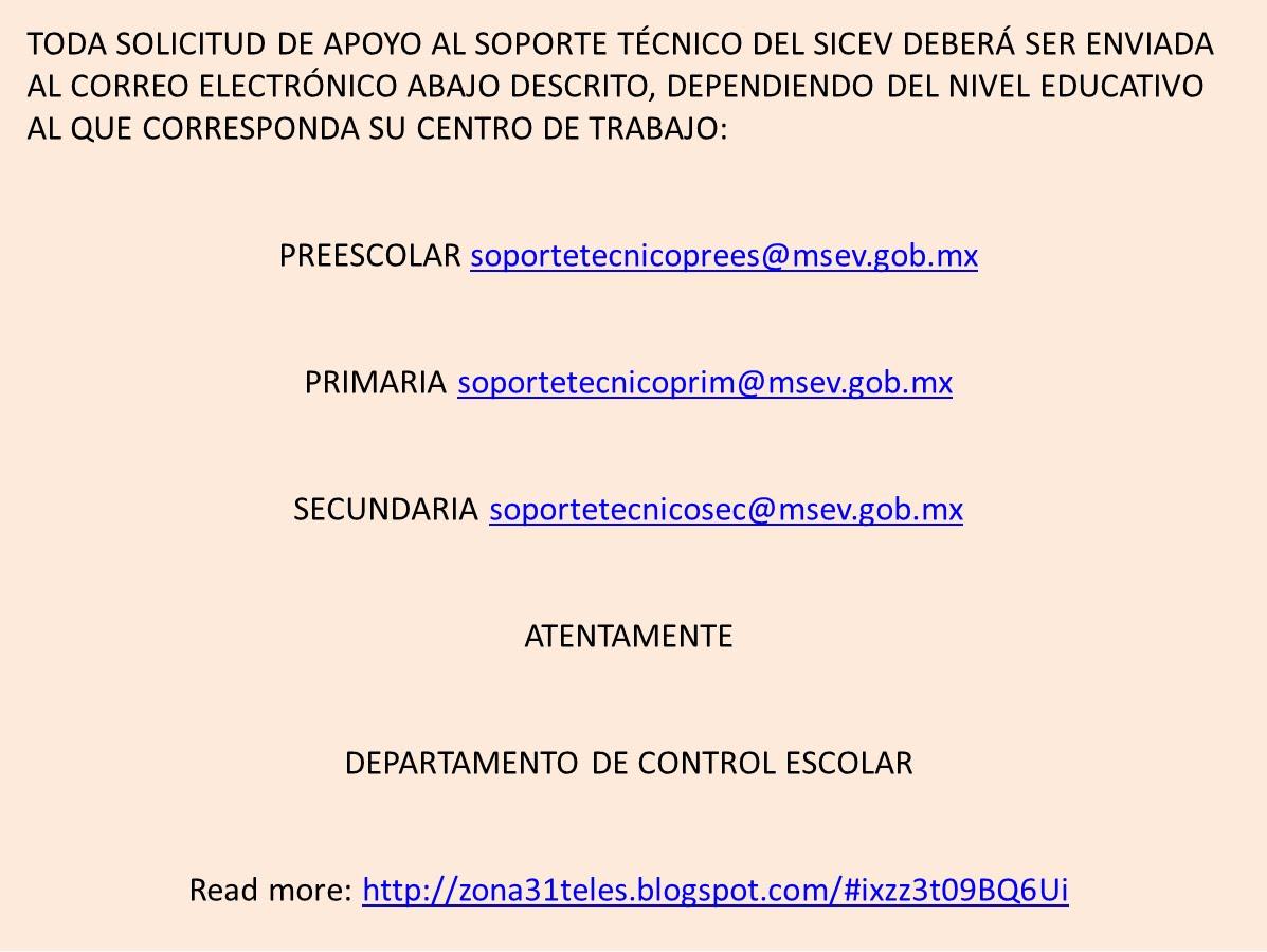SOPORTE DE CONTROL ESCOLAR