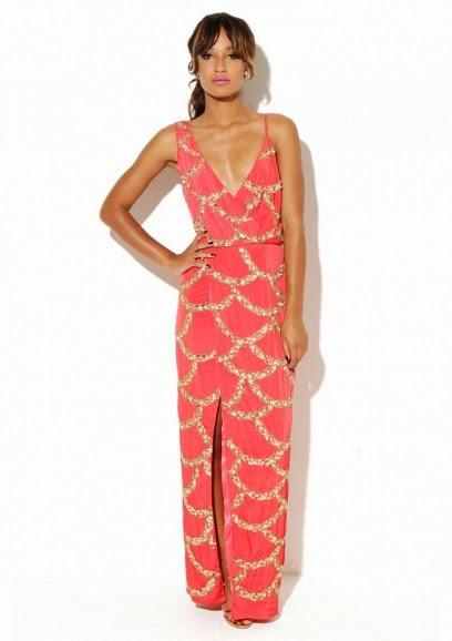 Virgos Lounge coral long dress