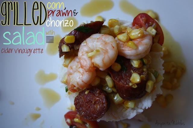 Grilled Corn, Prawn & Chorizo Salad | Anyonita Nibbles