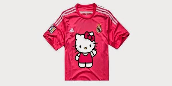 Kostum Pink Real Madrid Jadi Ejekan dengan Ditempeli Kartun Hello Kitty