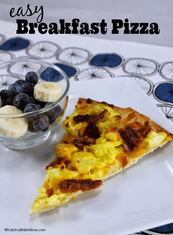 Easy Breakfast Pizza with Ham, Egg and Cheese