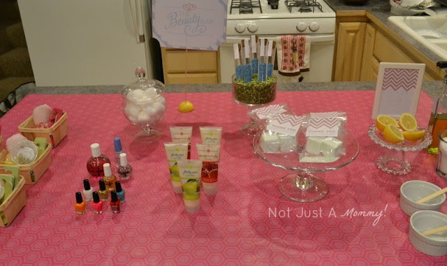 girls' weekend spa party goody bar