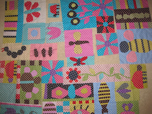 Blocks for my Granddaughter's bug quilt