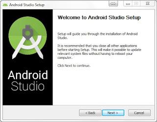 Pastikan JDK telah terinstall sebelum melanjutkan install android studio