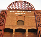 Nusrat Fateh Ali Khan auditorium of Faisalabad Arts Council