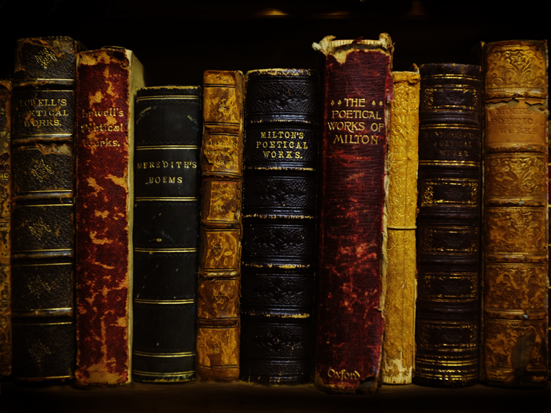 Antique Poetry Books - Milton - Photography by Tim Irving
