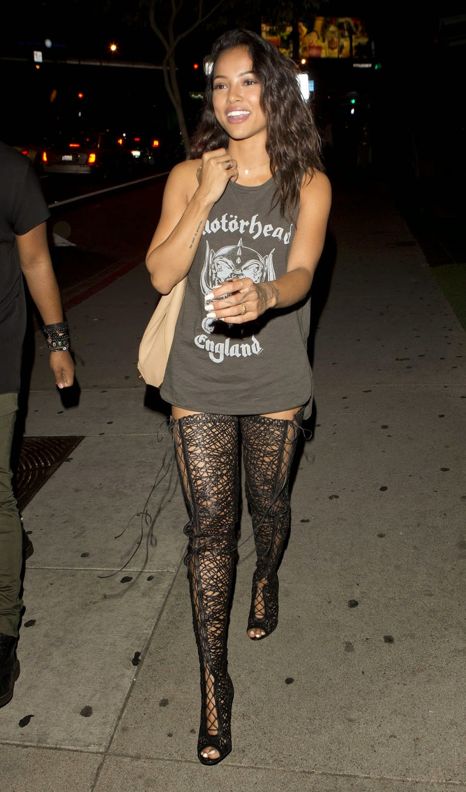 Model @ Karrueche Tran - Leaving BOA Steakhouse in West Hollywood