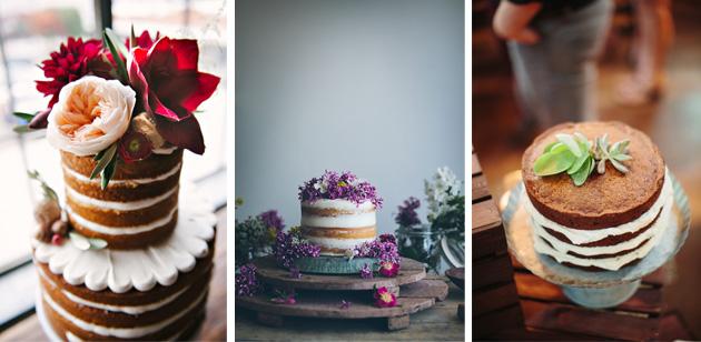 tartas nupciales flores