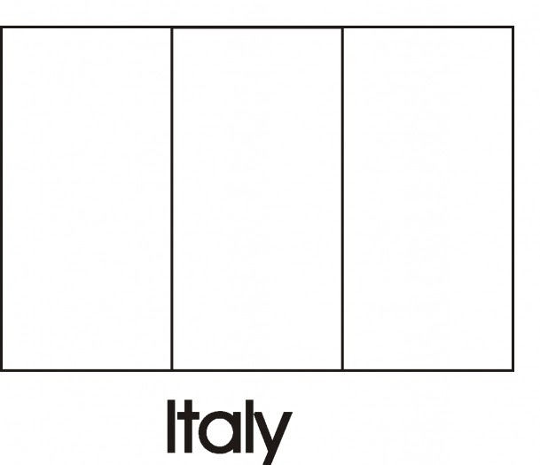 italian flag coloring pages - photo#11