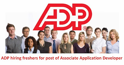 ADP hiring freshers for post of Associate Application Developer