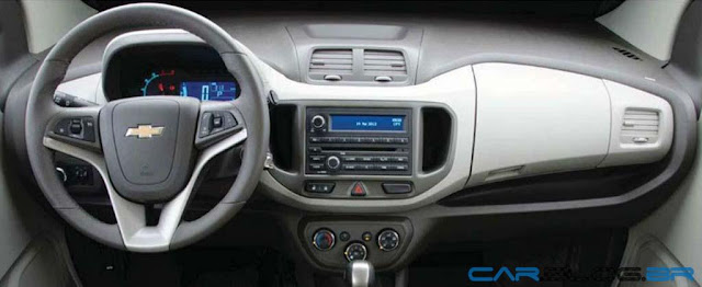 Chevrolet Spin - por dentro - painel