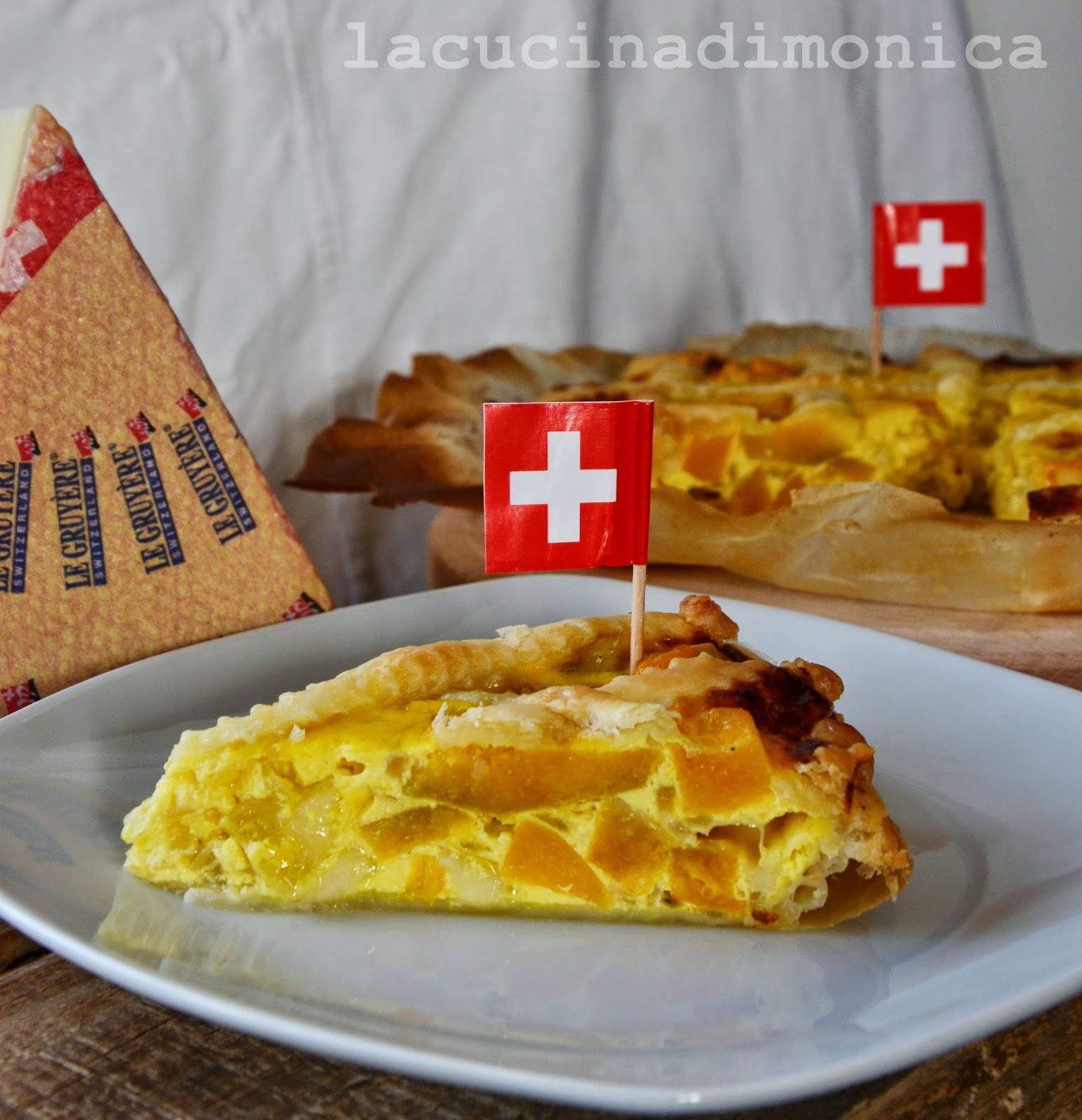 quiche con zucca,cipolla e gruyère svizzero dop per #noicheeseamo