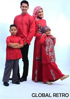Style Fashion Baju Muslim Keluarga untuk Lebaran