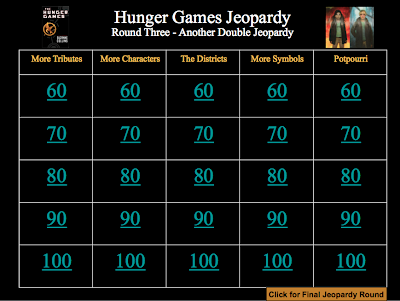 """The Hunger Games"" Review Game - Get 3 rounds (75 questions) in one download."