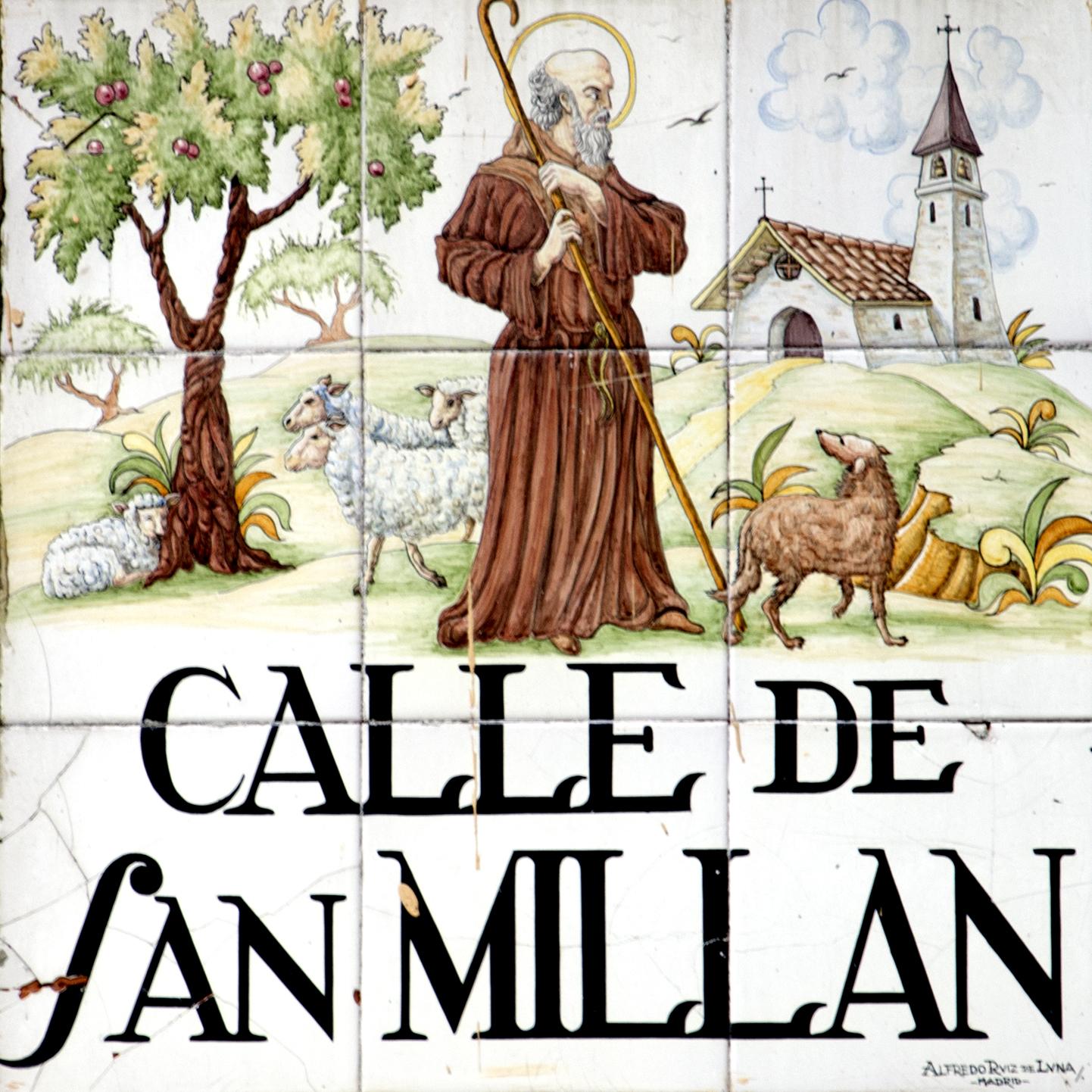 Placas e historia de las calles de madrid azulejos de for Imagenes de losetas y azulejos