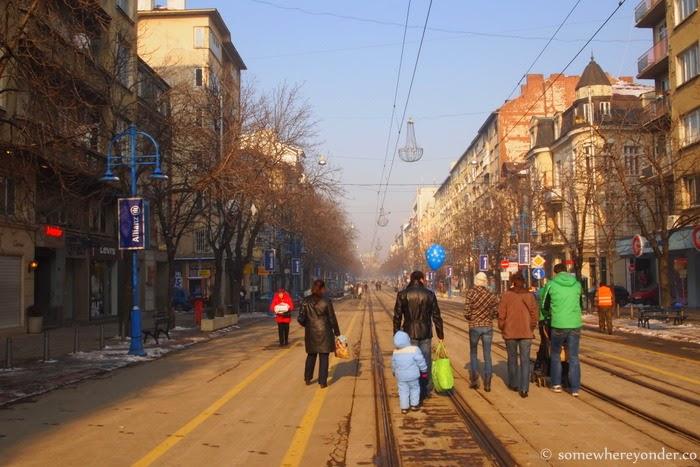 wandering down Vitosha Boulevard, Sofia