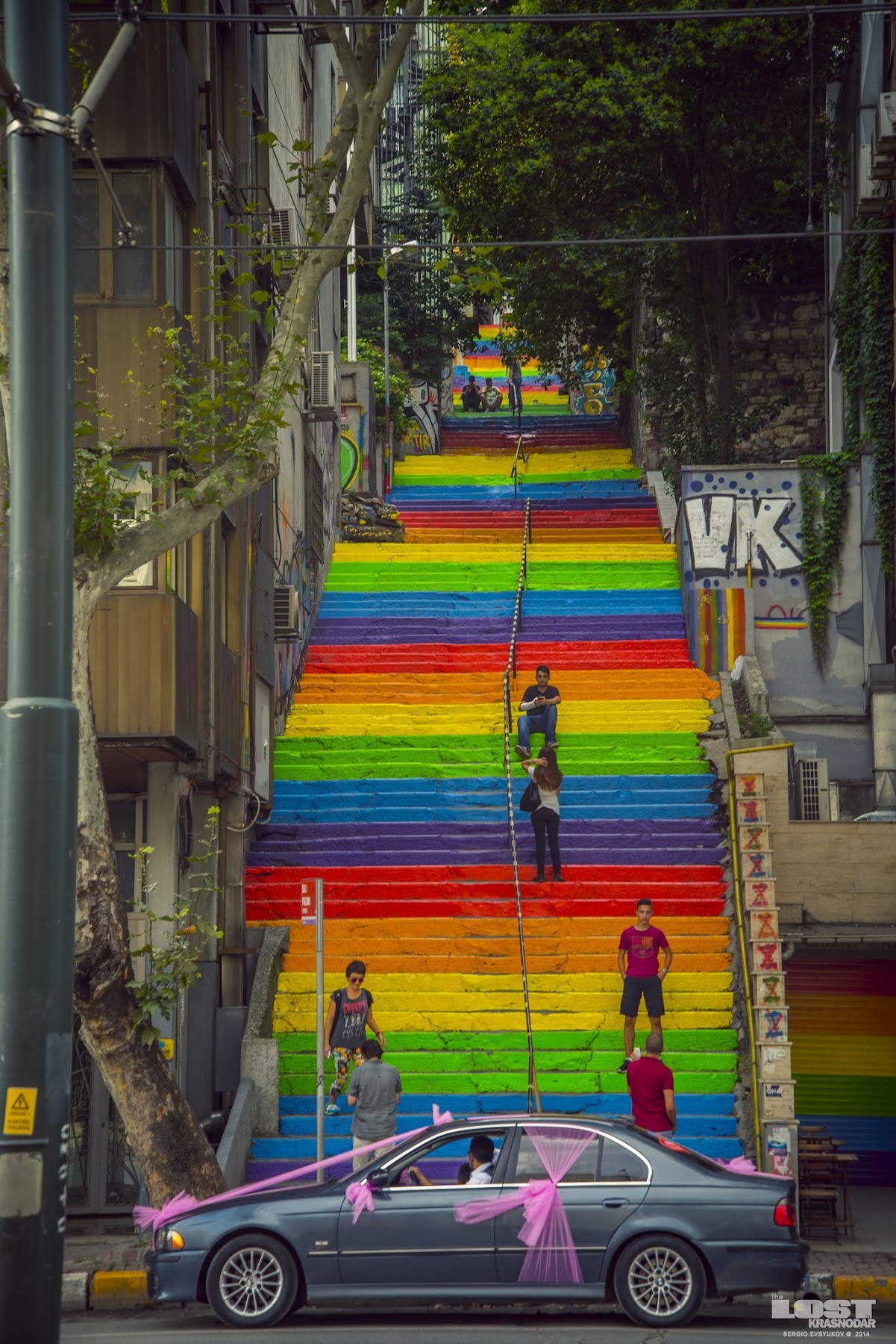 rainbow stairs turkey
