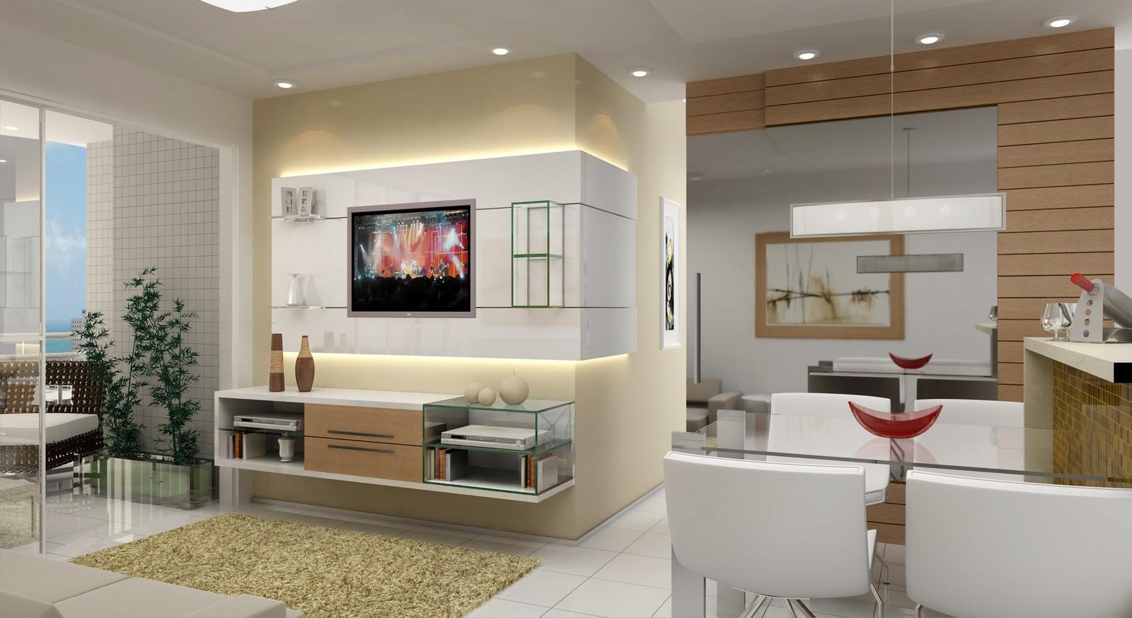 Gesso Na Sala Pequena ~ TRIUM Apartamento Decorado 01