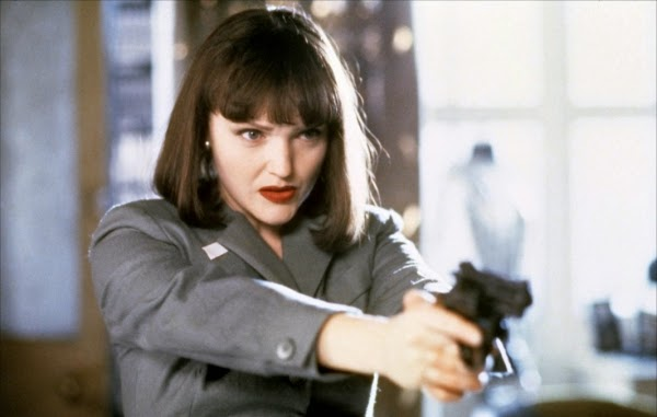 "Uma Thurman as Mia in Quentin Tarantino's ""Pulp Fiction"""