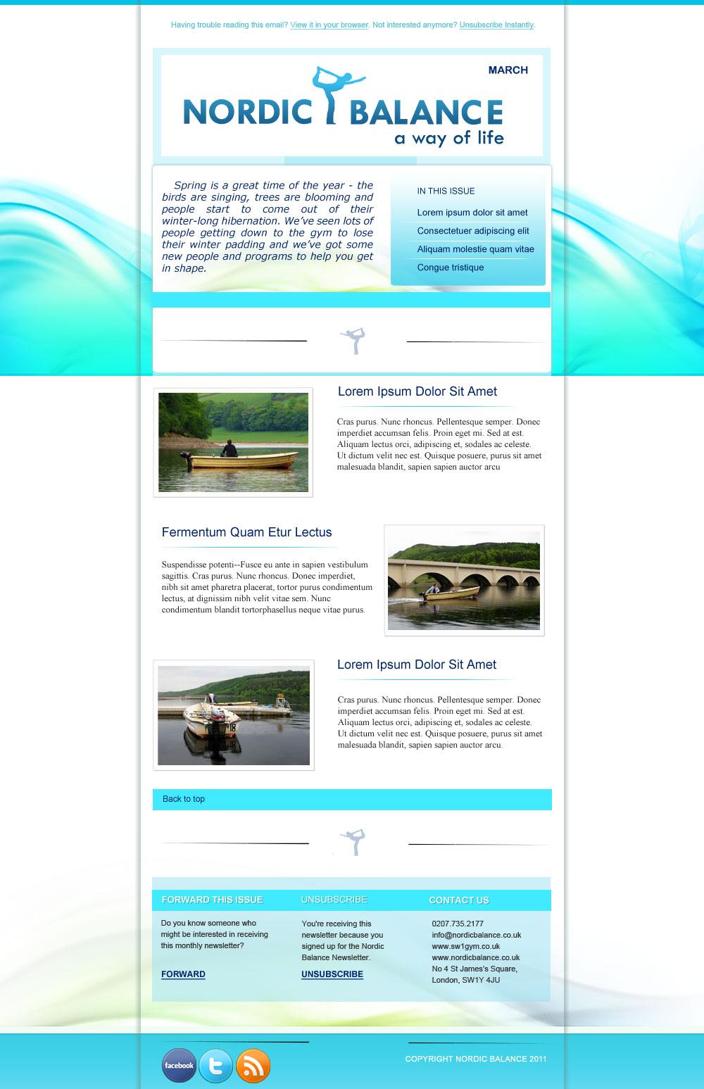 Newsletter Design Dezignation