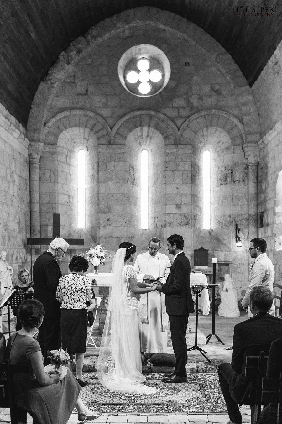 wedding ceremony at the church