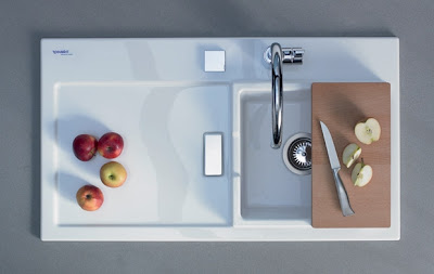modern kitchen sink design -white
