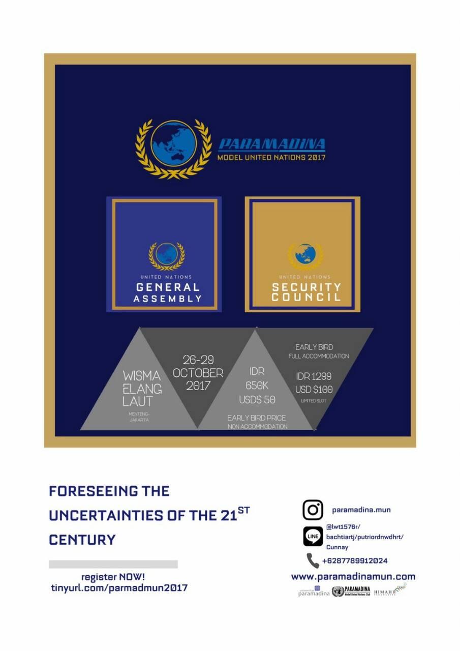 Dibuka!, Pendaftaran Paramadina MUN 2017