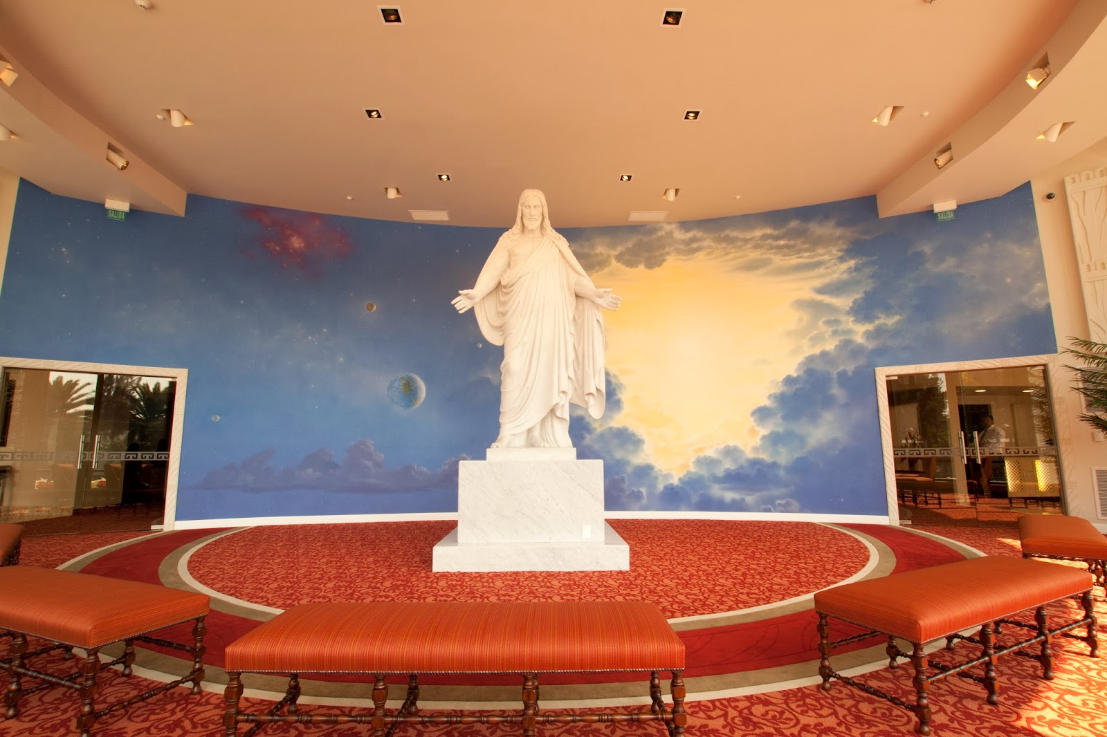 Mexico City L D S Temple Visitors Center - Christus Statue