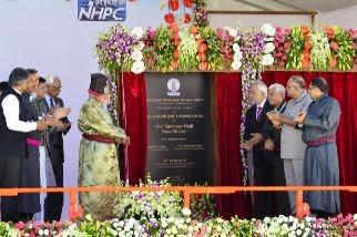 PM  Modi inaugurates #NHPC's 45 MW Nimoo-Bazgo hydroelectric power project in Leh