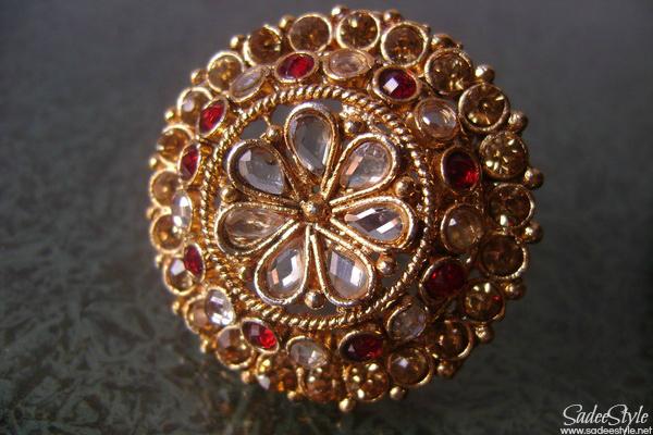 Bridal Polki/kundan Ring