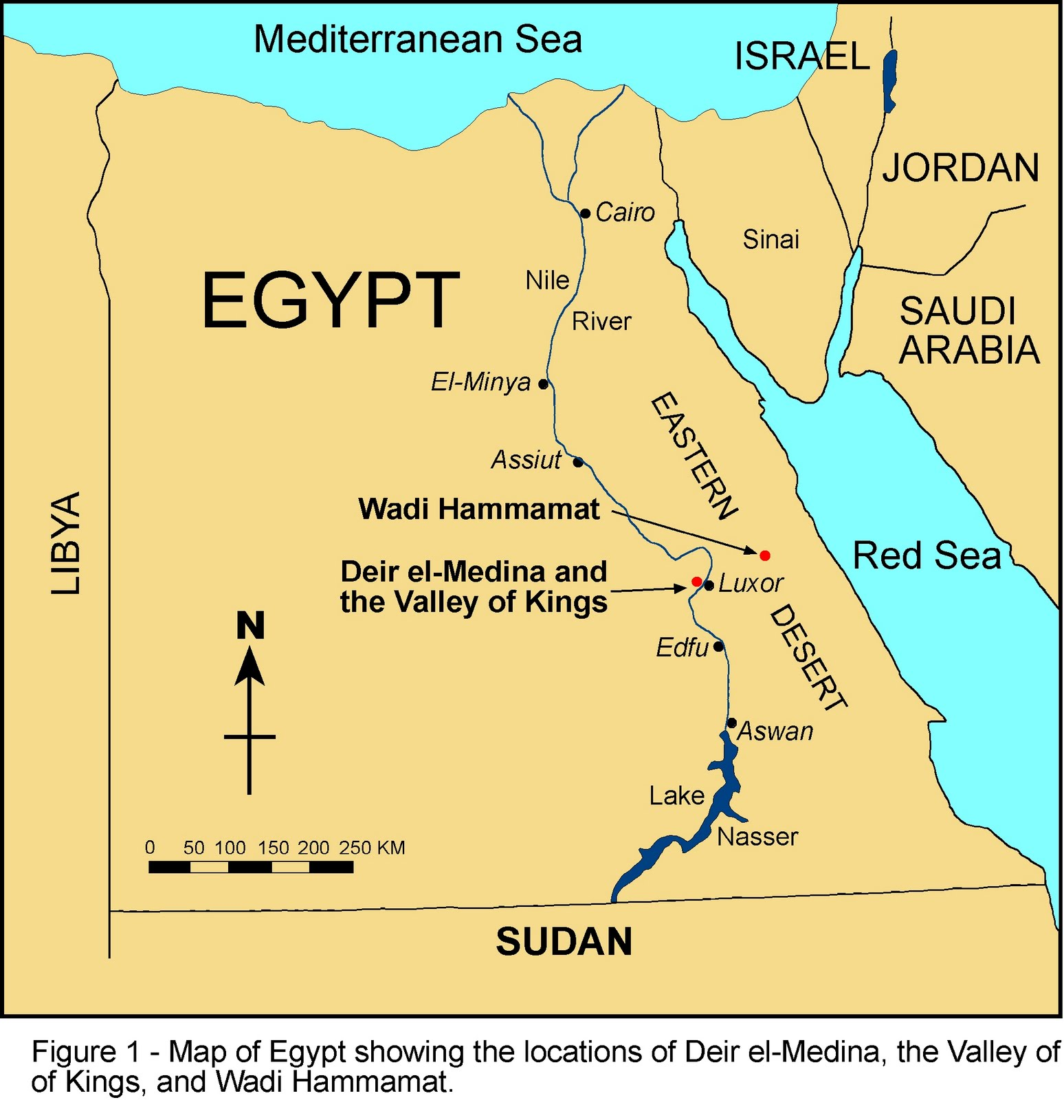 World Map Egypt