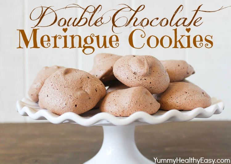 Double Chocolate Meringue Cookies - Yummy Healthy Easy