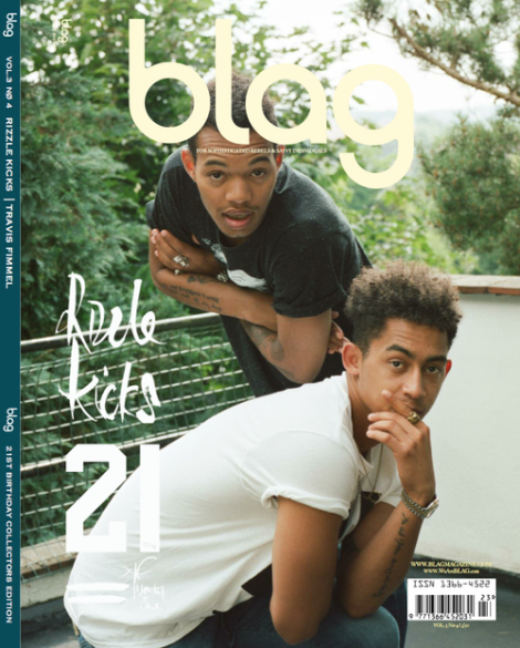 Rizzle Kicks cover Blag Magazine's 21st Birthday Edition