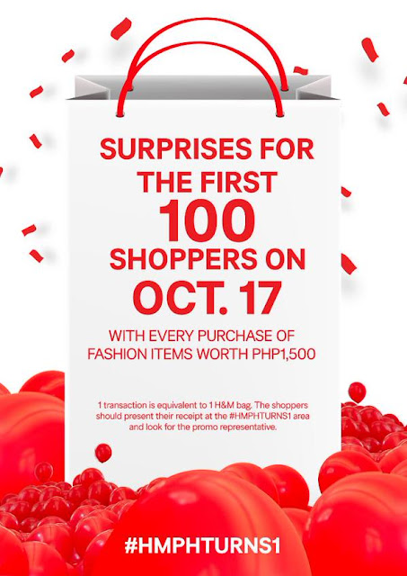 H&M Surprises for first 100 shoppers on October 17!