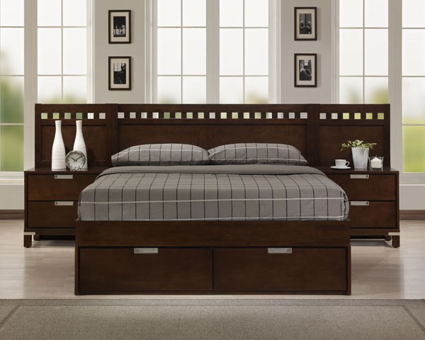 ... for wood project: Cool King size bed woodworking plans night stand