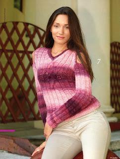 http://www.vyazemsami.ru// Кофта с открытыми плечами