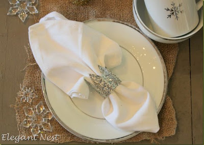Glitter Crown Napkin Rings