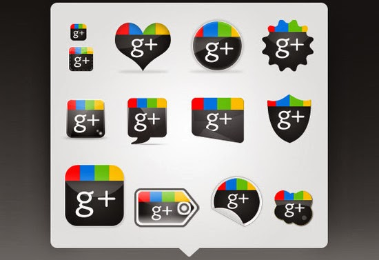 Free Google Plus Icon Set