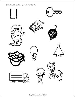 Beginning Sounds Letter L Worksheets - Worksheet Printable Blog