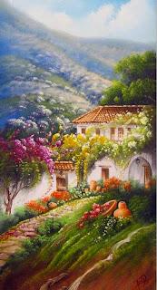 pintura-de-paisajes-con-fincas-de-colombia