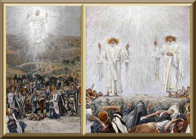 "Both images entitled ""The Ascension"" -- by James Tissot"