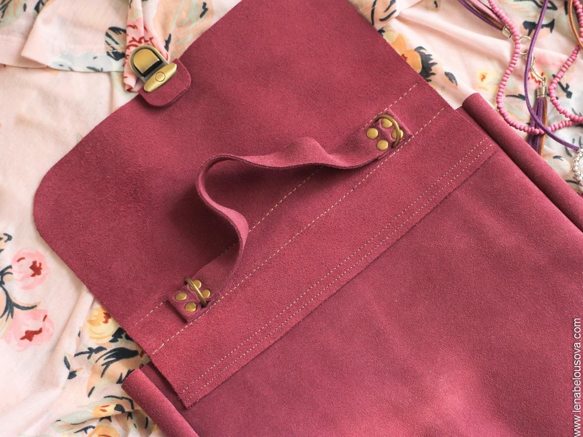 женский замшевый портфель