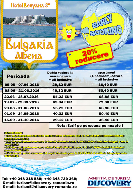Oferta Early Booking Bulgaria statiunea Albena - Discovery pitesti